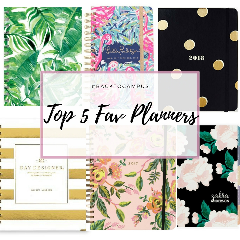 Back To Campus : Top 5 Favorite Planners