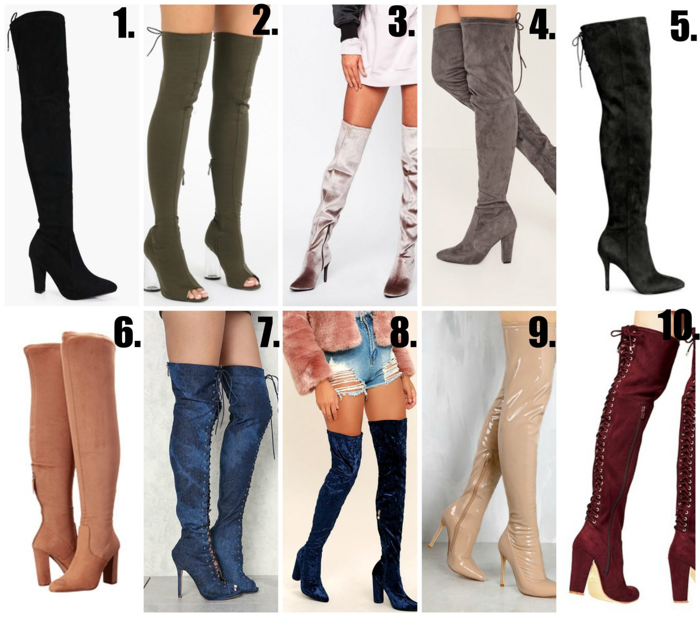 Top 10 Thigh/Knee High Boots Under $100